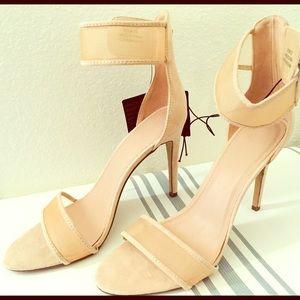 Nude mesh heels size 10